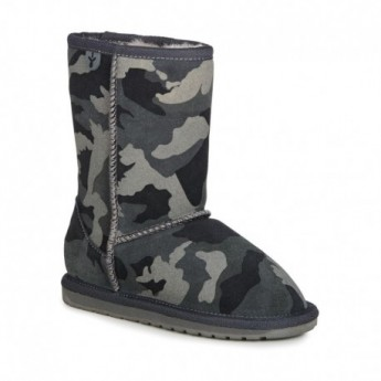 CAMO grey flat closed boots for girl