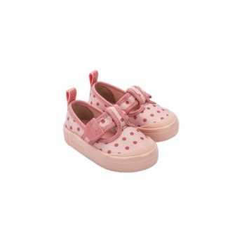 BASIC PRINT pink flat sandals for baby