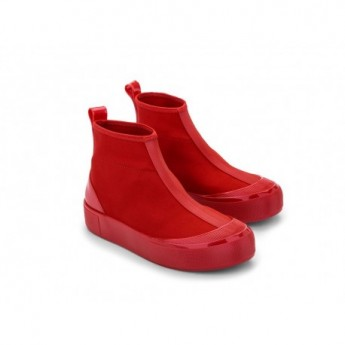 JOY BOOT red flat closed boots for woman