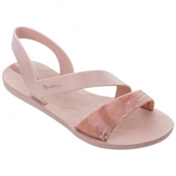 VIBE pink flat open sandals for woman