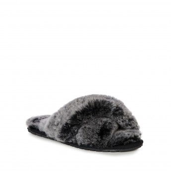 MAYBERRY FROST black flat open slippers for woman