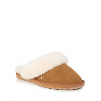 JOLIE brown flat open slippers for woman