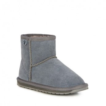WALLABY MINI TEENS grey flat closed boots for girl