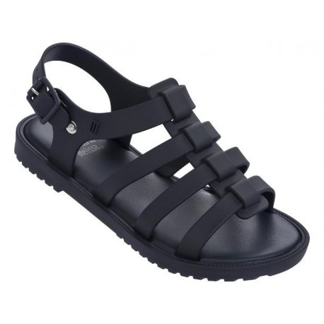 FLOX blue and navy blue flat roman sandals for girl