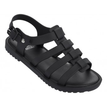 FLOX black flat roman sandals for girl