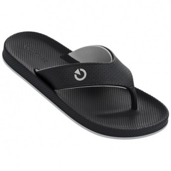 SIENA black and grey flat finger flip flops for man
