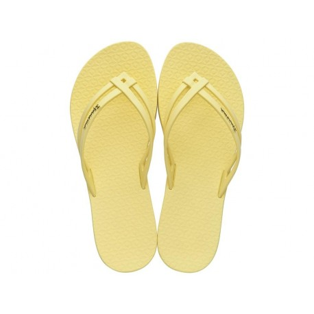 MAIS TIRAS yellow flat finger flip flops for woman
