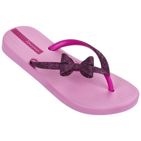LOLITA IV pink flat finger flip flops for child