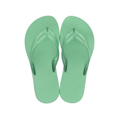 MAIS TIRAS green flat finger flip flops for child