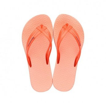 MAIS TIRAS orange flat finger flip flops for child