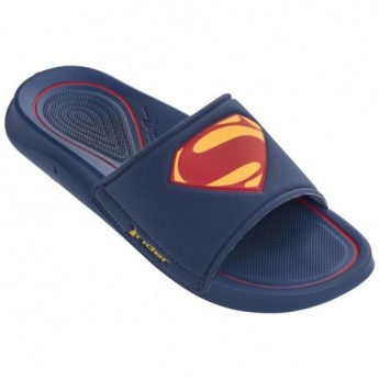 LIGA DA JUSTICA blue and red flat shovel flip flops for man