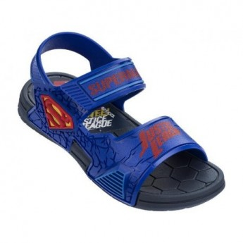 LIGA DA JUSTICA DEFENSE blue flat roman sandals for child
