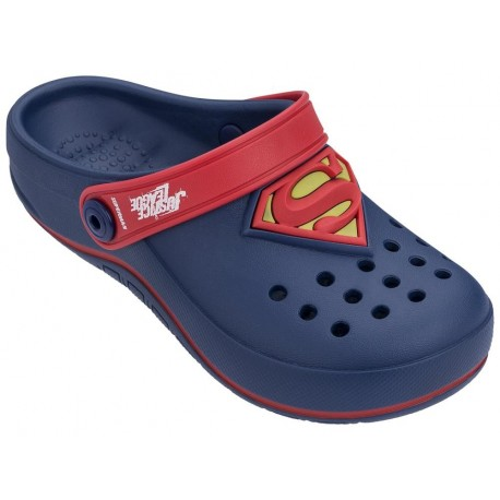 LIGA DA JUSTICA BABUCH FORCE blue and red flat closed clogs for child