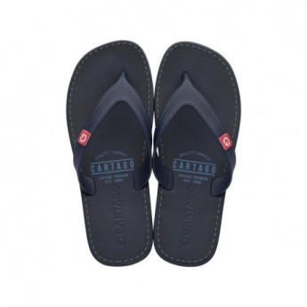 DAKAR blue flat finger flip flops for man